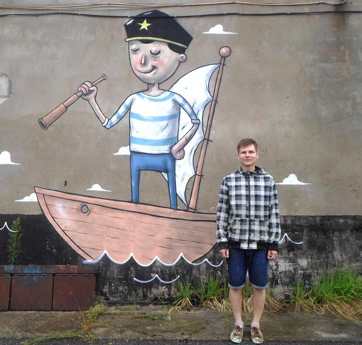 После проведения торжественной церемонии завершения работы по созданию самого большого граффити в Пермском крае Александр решил ещё немного задержаться в Перми.