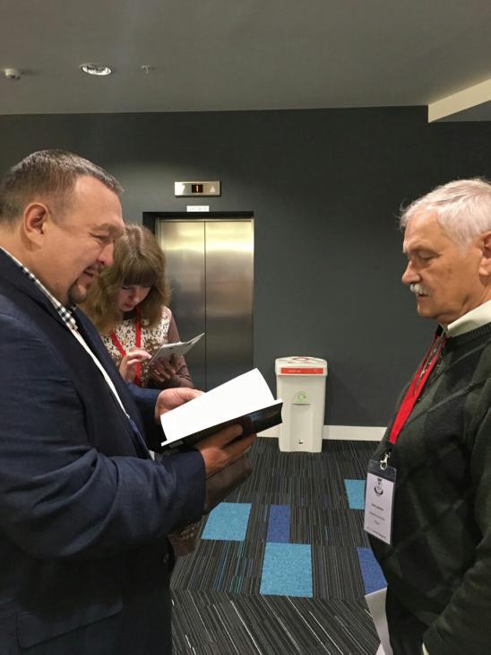 Президент иОснователь ТЕНТОРИУМ Раиль Хисматуллин иВалерий Исидоров (Белостокский технологический университет, Польша).