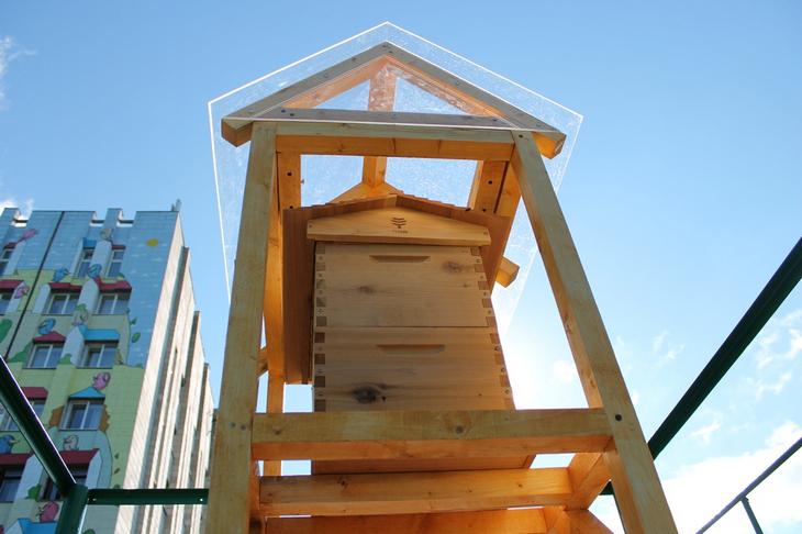 Улей Flow («Поток») — изобретение отца и сына Андерсонов (Австралия), которое позволяет извлекать мёд без открытия улья и использования медогонок