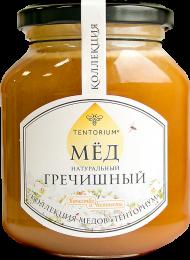 """Входящий в """"Коллекцию ТЕНТОРИУМ"""" мёд собран из нектара цветков гречихи. По своим свойствам похож на гематоген, однако подходит и для вегетарианцев. Идентифицируется по лабораторному пыльцевому анализу."""
