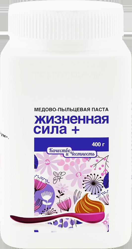 """Медово-пыльцевая паста """"Жизненная сила плюс"""" (400 г)"""