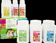 """Шесть продуктов для шести основных функций организма обеспечат мощное восстановление иммунной системы. Вернуть активность, открыв для себя """"Жизненную силу"""" - просто!"""