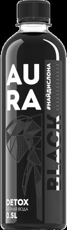 "Вода чёрная ""AURA BLACK"" 0,5 л."