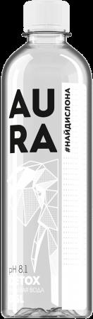 """Вода питьевая """"AURA"""" 0,5 л."""